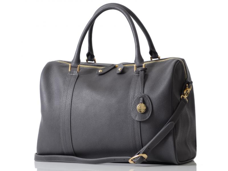 PacaPod FIRENZE cínově šedá - luxusní kožená kabelka i přebalovací taška