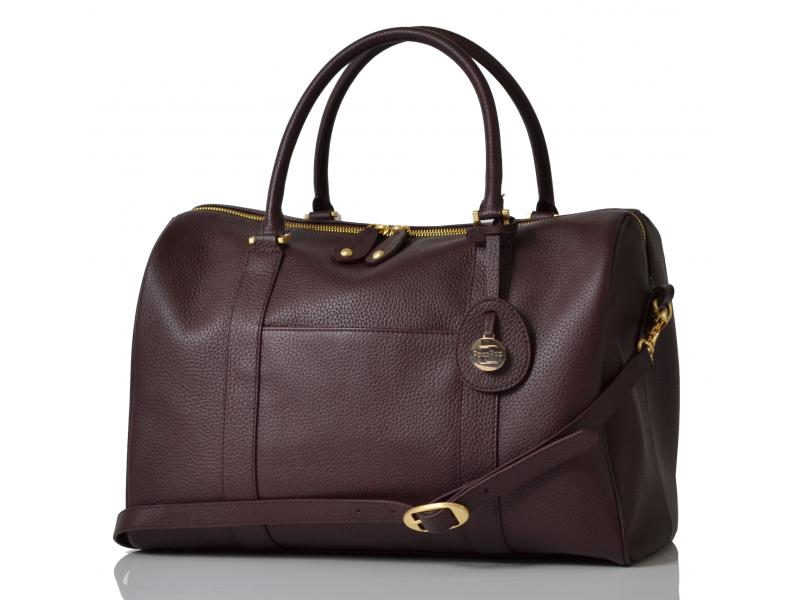 PacaPod FIRENZE claret - luxusní kožená kabelka i přebalovací taška