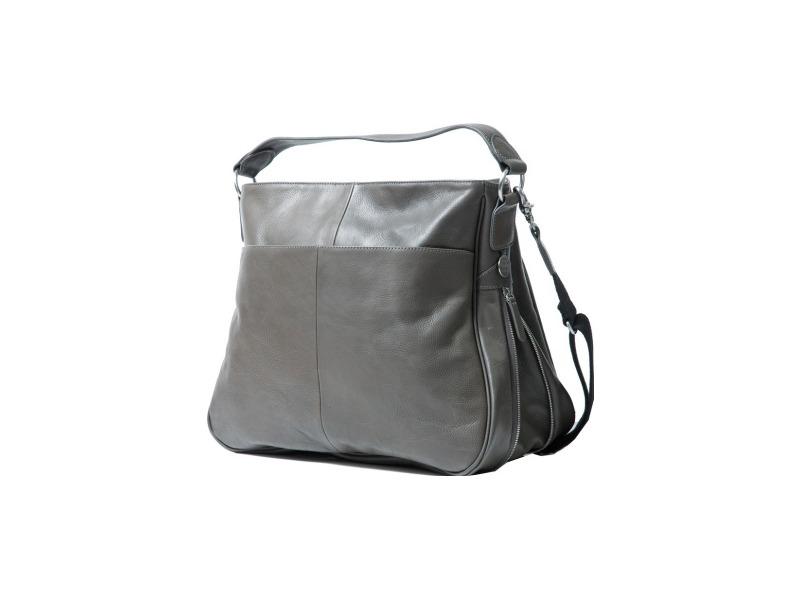 PacaPod SYDNEY tmavošedá - luxusní kabelka i přebalovací taška