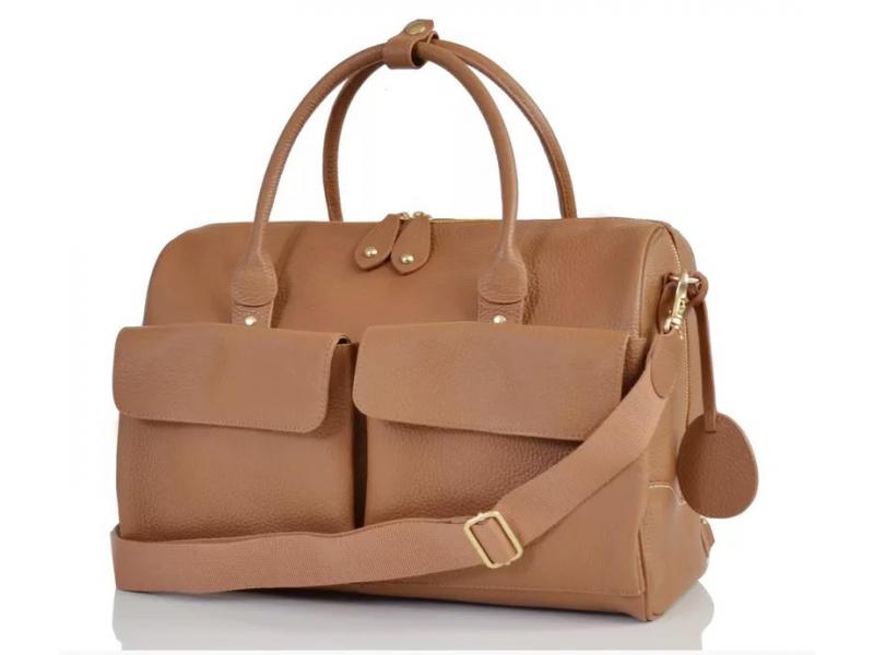 PacaPod LORETO hnědá - luxusní kožená přebalovací taška 50630c00a84