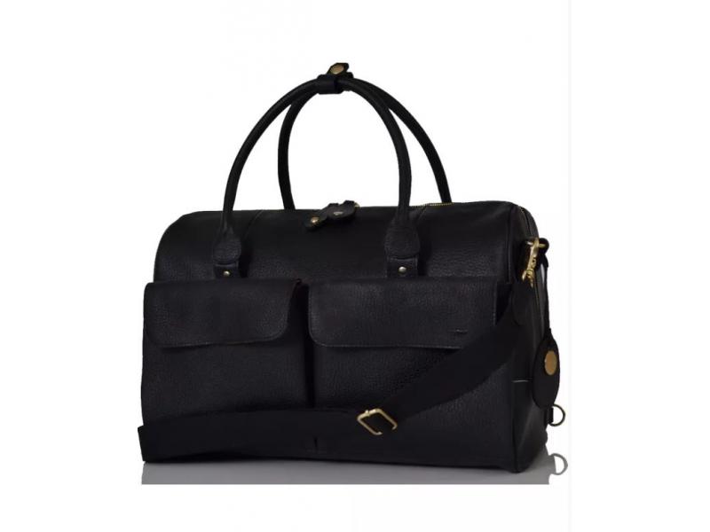 PacaPod LORETO černá - kožená přebalovací taška i batoh