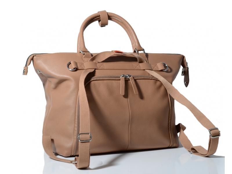 PacaPod CHILTERN světle hnědá - přebalovací taška i batoh