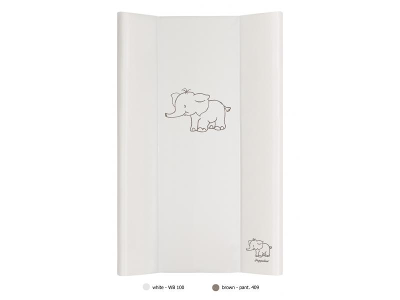 Puppolina Přebalovací podložka pevná 50x80 slon BÍLÁ