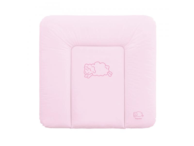 Puppolina Přebalovací podložka měkká ovečka 74x72 Růžová