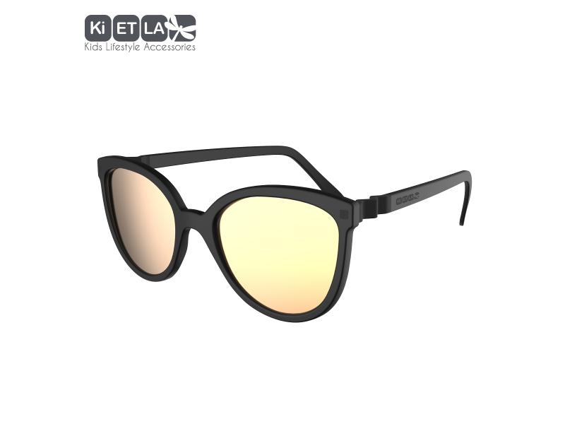 Ki ET LA Dětské sluneční brýle CraZyg-Zag 9-12 let - černé zrcadlovky
