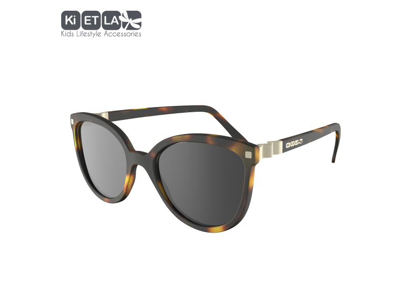 Ki ET LA Dětské sluneční brýle CraZyg-Zag 9-12 let - hnědé