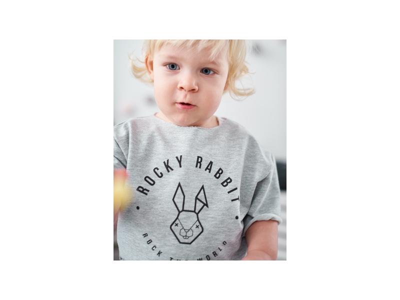 Dětské triko top šedý melír 4 1