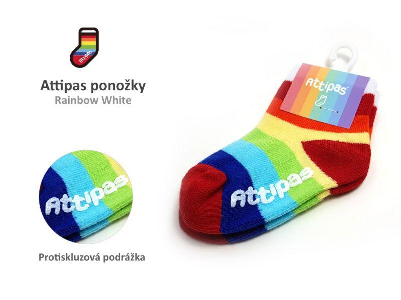 Ponožky Rainbow, White 1