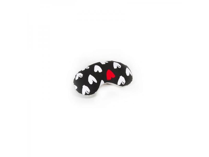 Kojící polštářek HEARTS – černo/bílá 1