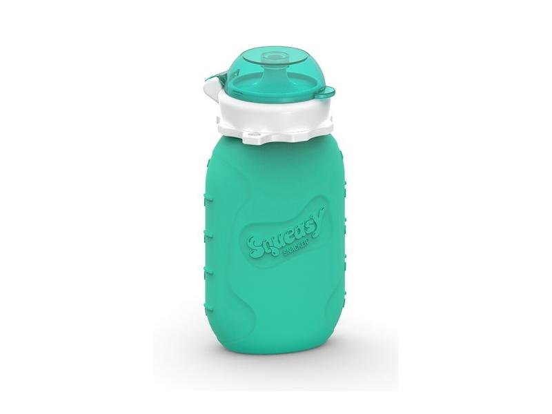 Squeasy Gear Silikónová kapsička na dětskou stravu 104ml - aqua