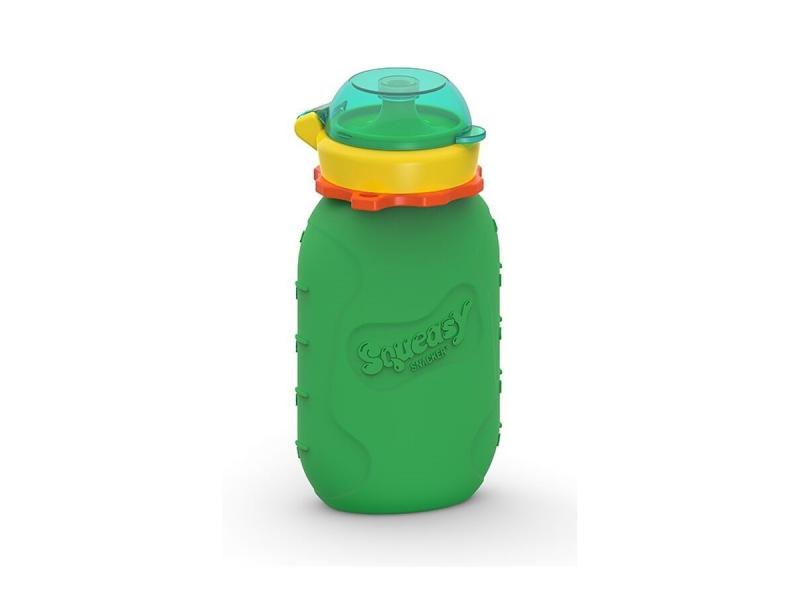 Squeasy Gear Silikónová kapsička na dětskou stravu 180ml - zelená