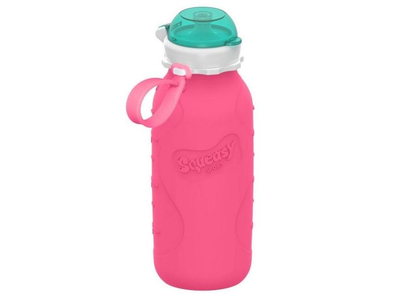 Squeasy Gear Silikónová láhev 480ml - růžová