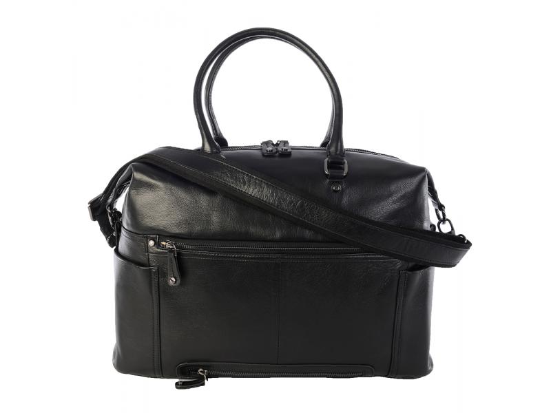 KERIKIT THEA BLACK-kožená taška