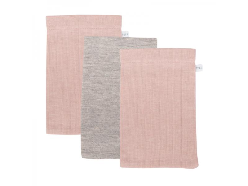 Žínky 21x14 3ks pure pink-grey 3ks 1