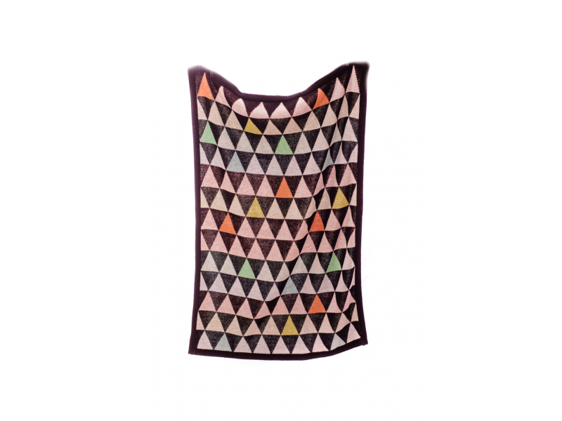 Pletená deka Triangles 1