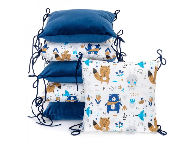 Polštářkový mantinel VELVET, blue bears 35 x 35 1