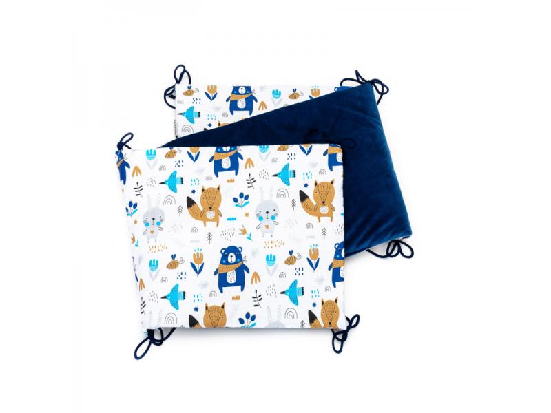 Skládaný mantinel VELVET, blue bears 35 x 150 1