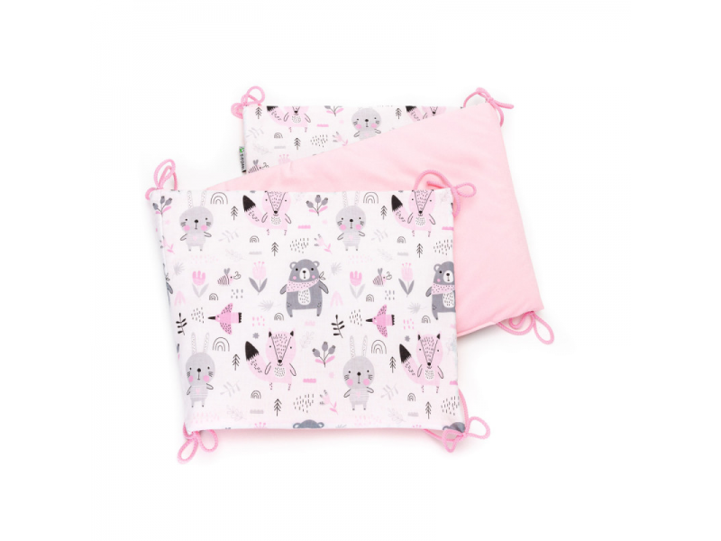 Skládaný mantinel VELVET, pink bears 35 x 150 1