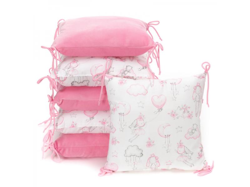 Polštářkový mantinel VELVET, sweet bunnies 35 x 35 1