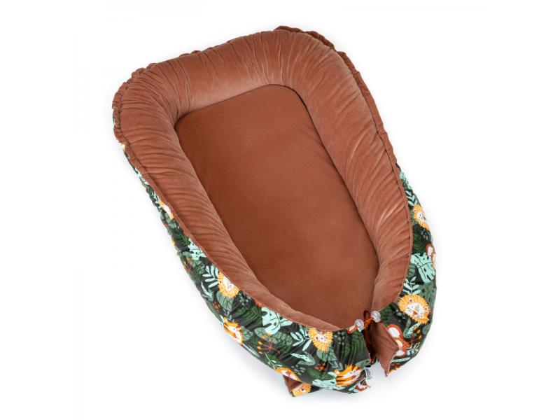 Hnízdečko pro miminko VELVET, jungle 70 x 98 1