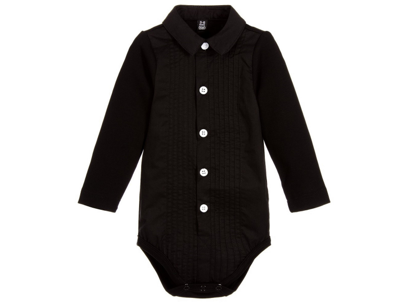THE TINY UNIVERSE Body Tuxedo All Black 6 - 12 m.