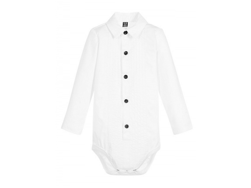 THE TINY UNIVERSE Body Tuxedo White 6 - 12 m.