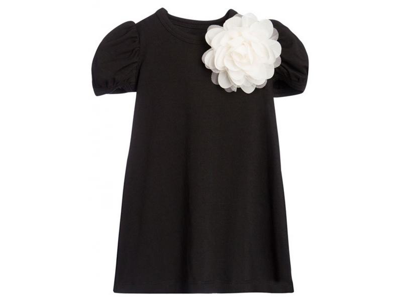 THE TINY UNIVERSE Šaty The Tiny Flower All Black 116