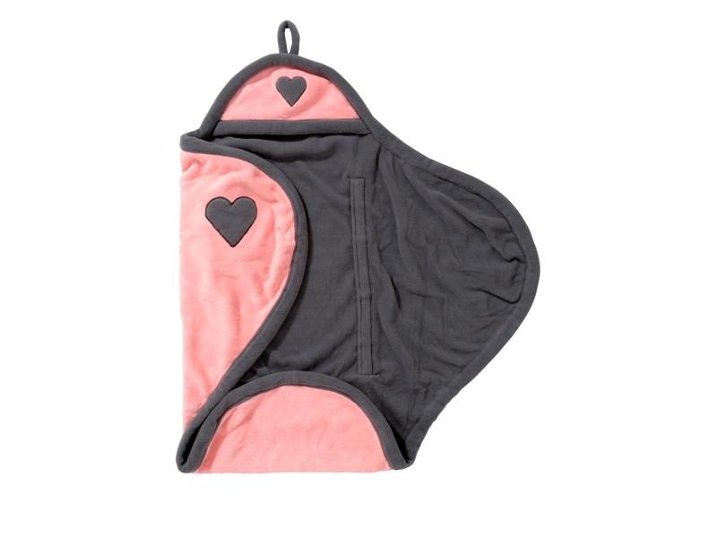 Jollein Zavinovačka do autosedačky Wrap 105x100cm Pink Hearts
