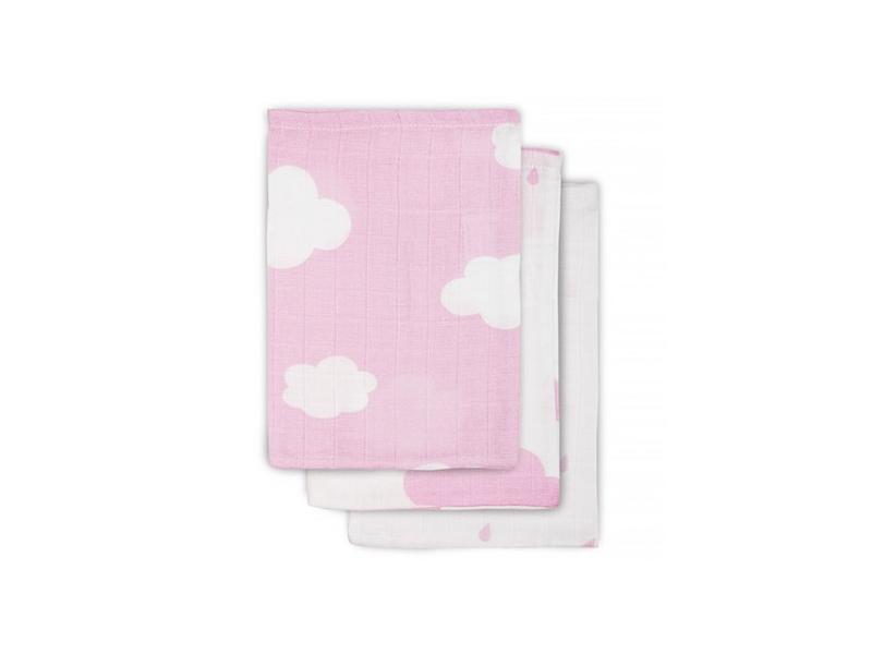Jollein Žínka 3ks - cena za 3ks(1bal.) 15x21 cm clouds pink