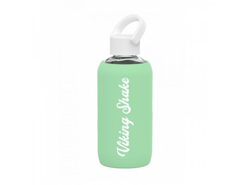 EcoViking Lahev na vodu 420ml skleněná silikonový obal Green