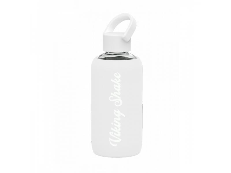 EcoViking Lahev na vodu 420ml skleněná silikonový obal White
