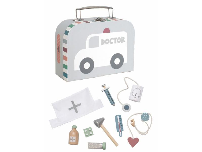 Jabadabado Lékařský kufřík stříbrný
