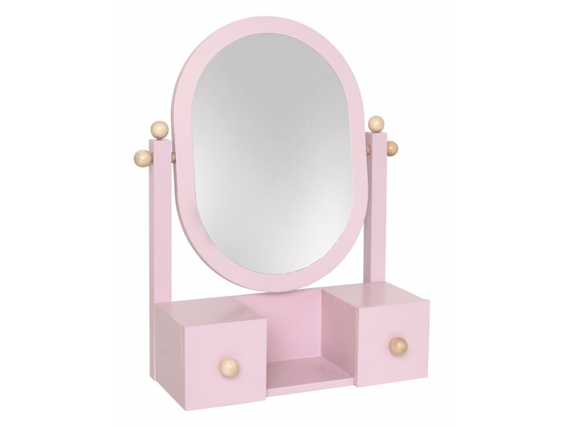 Zrcadlo růžové 1