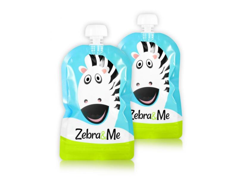Zebra&Me Kapsička na dětskou stravu na opakované použití – 2ks kuchař-zebra
