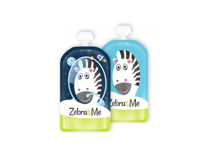 Zebra&Me Kapsička na dětskou stravu na opakované použití – 2ks kosmonaut-zebra