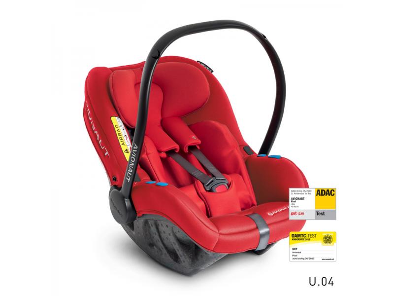 Autosedačka PIXEL (45-86cm, 0-13kg) 2020 červená 1