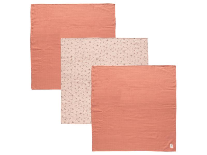 Mušelínová plenka 70x70 cm set 3ks Fabulous Wish Pink 1