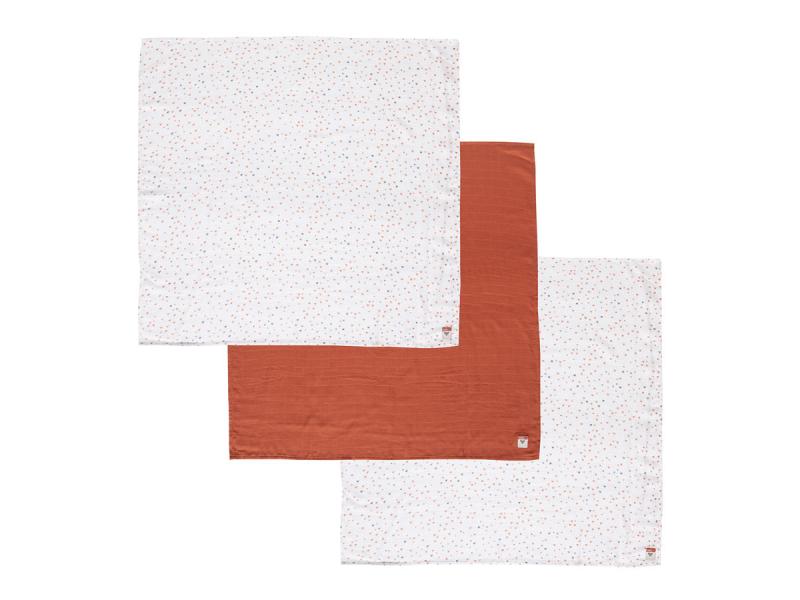 Mušelínová plenka 70x70 cm set 3ks Fabulous Hearts 1