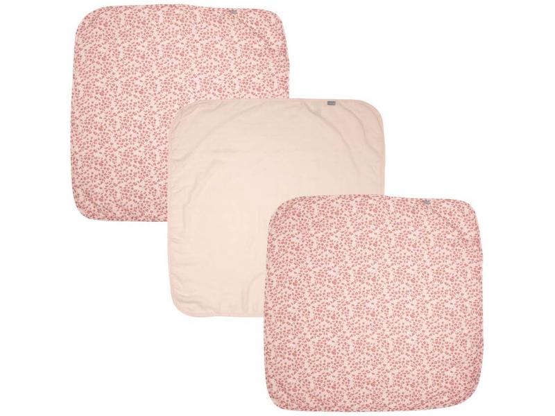 Bebe-Jou Bambusová mušelínová plenka 70x70 cm set 3ks Leopard Pink