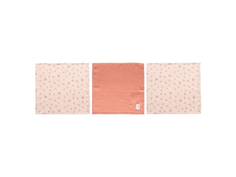 Mušelínová žínka na obličej 3ks Fabulous Wish Pink 1
