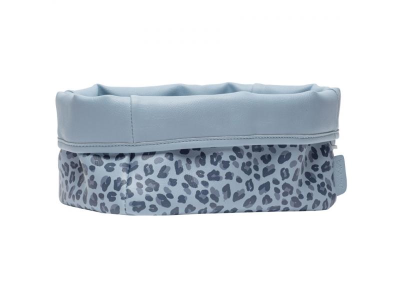 Textilní košík na kojenecké potřeby Leopard Blue 1
