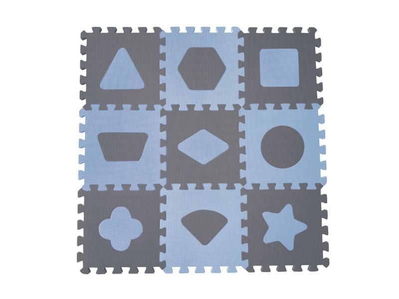 Pěnová hrací podložka puzzle Geometrické tvary, Blue 90x90 cm 1