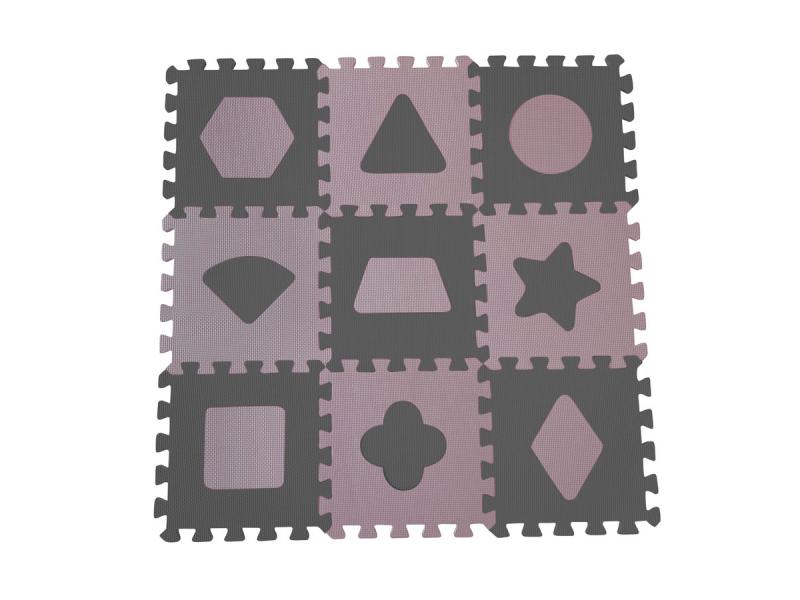 Pěnová hrací podložka puzzle Geometrické tvary, Rose 90x90 cm 1