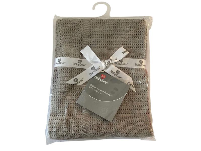 Dětská háčkovaná bavlněná deka Babydan Grey,75x100cm 1