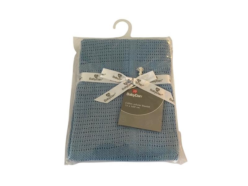 Dětská háčkovaná bavlněná deka Babydan Dusty Blue,75x100cm 1