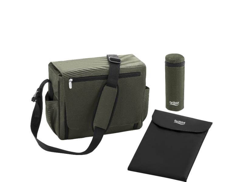 Přebalovací taška, Olive denim 1