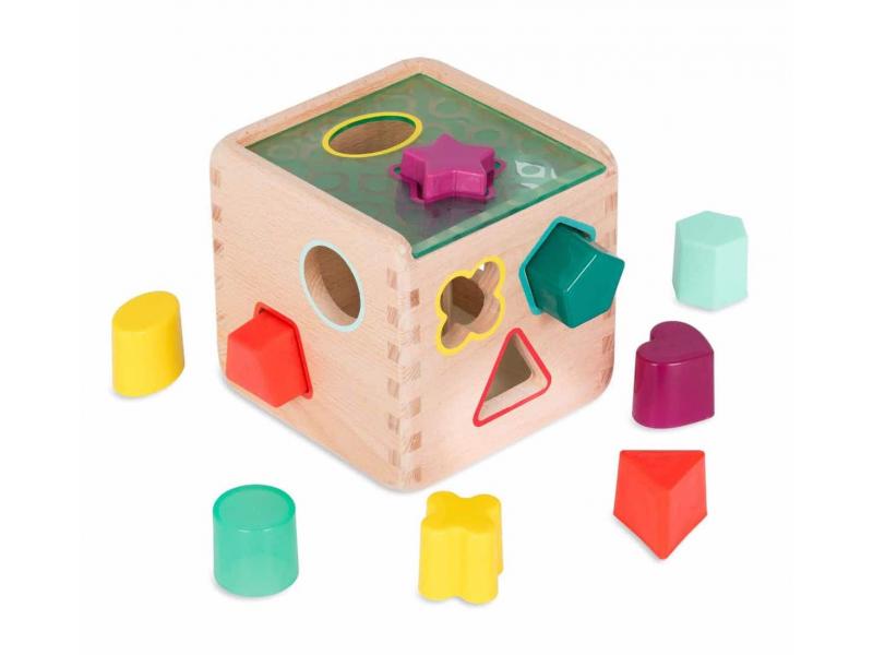 Kostka dřevěná s vkládacími tvary Wonder Cube 1
