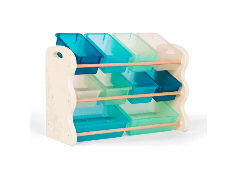 Organizér na hračky s ukládacími boxy 1