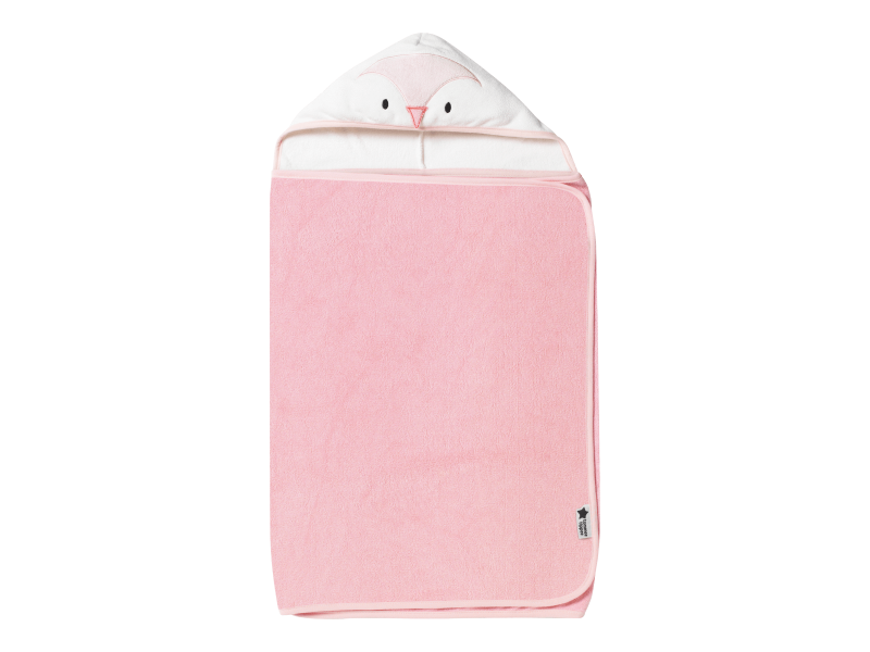 Osuška s kapucí Hug 'n' Dry 6-48m Penny Pink 1