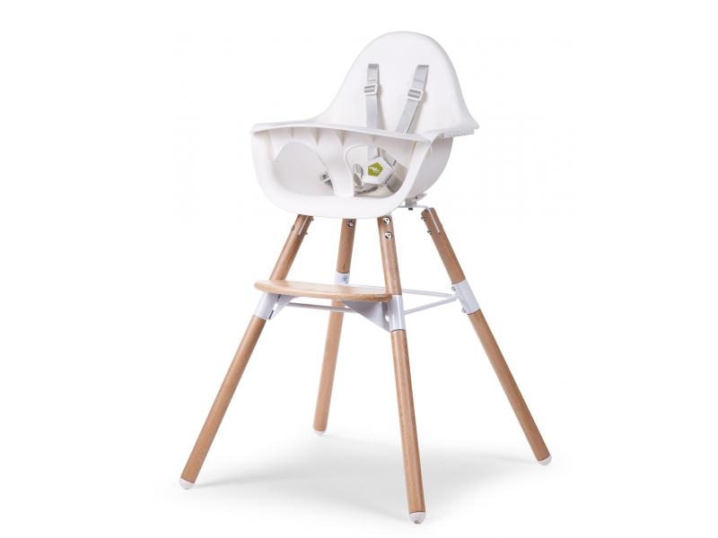 Childhome Židlička 2v1 Evolu 2 Natural / White